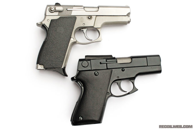 "Many years later, Smith & Wesson would make their own version of the ASP: the 469/669. According to Paris Theodore, when he first showed S&W management his finished ASP in hopes of making a deal for commercial production, their response was, ""Who in their right mind would want a 9mm pocket pistol?"""