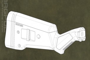 Magpul SGA Stock Drawing