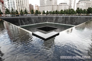 Reflecting Pool Sits in the Footprings of the Orignal Twin Towers