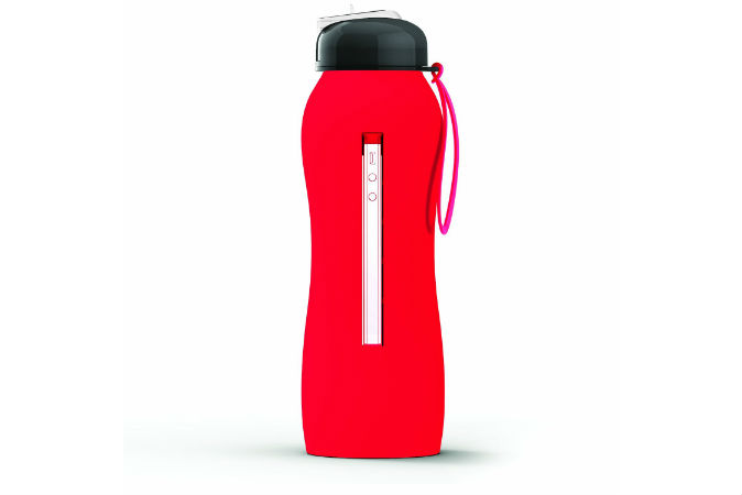 Silicone bottle red