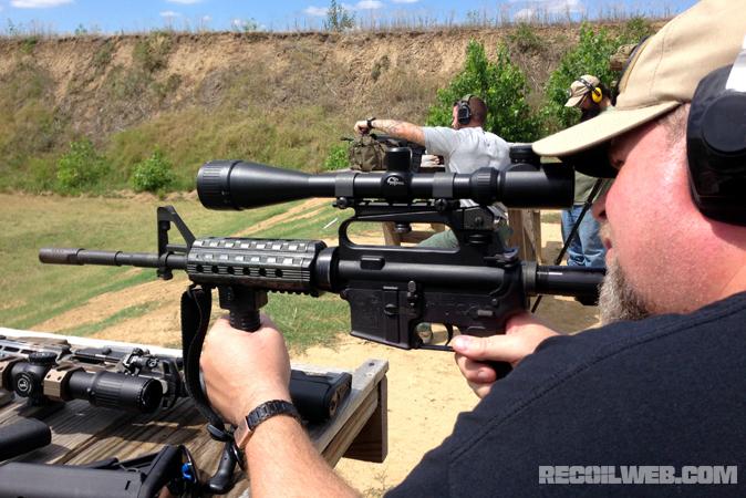 Inexpensive AR - sighting in a Frankengun