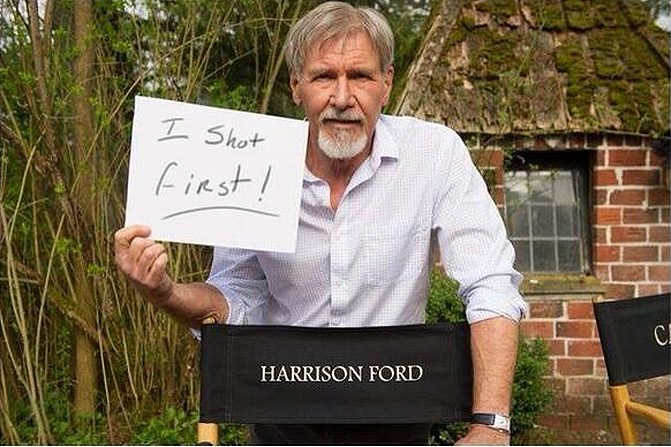 Han Solo Harrison Ford I Shot First