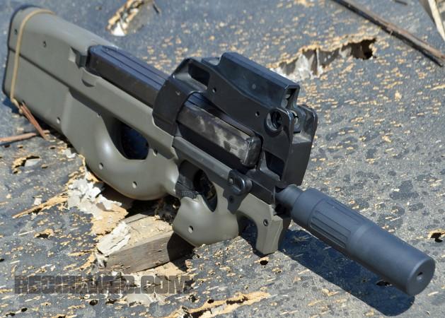 SAS's Sentinel mounted on an FN P90