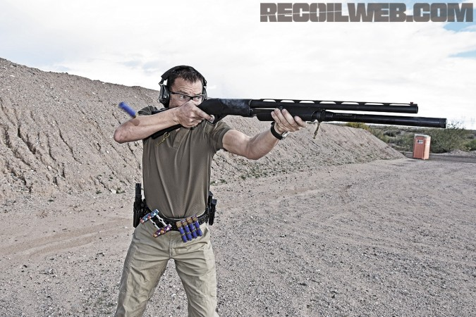 Running the Benelli Supernova in 3-Gun competition.