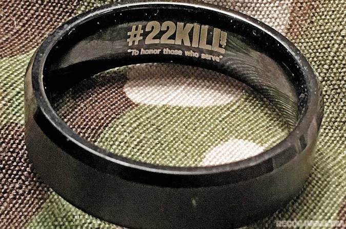 The #22KILL campaign was launched by Honor Commitment, a nonprofit that raises awareness of the 22 veterans who commit suicide each day.