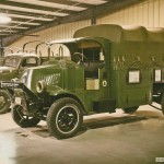 One of the few remaining World War I-era Mack Trucks in the world is at the HMMV. Introduced in 1916, it was used by both the British and American military.