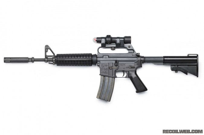 This is a reproduction of the Colt GAU-5A/A carbine used in Operation Ivory Coast, the Son Tay raid.