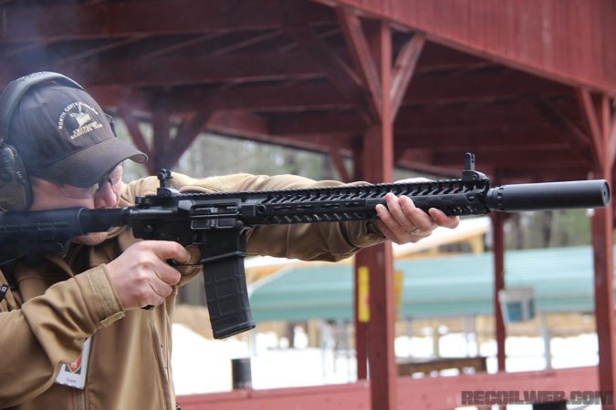 The YHM TURBO doesn't add significant weight to the front of the rifle and doesn't inhibit quick follow-up shots.