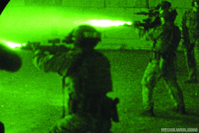 The pairing of quality NVDs with IR lasers/illuminators make it possible to not only engage targets, but mark points of interest and communicate with your team in total darkness and complete silence.