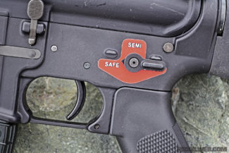 Franklin Armory advises attaching the included sticker to the lower on which you're using, or you can have the third position's marking engraved.