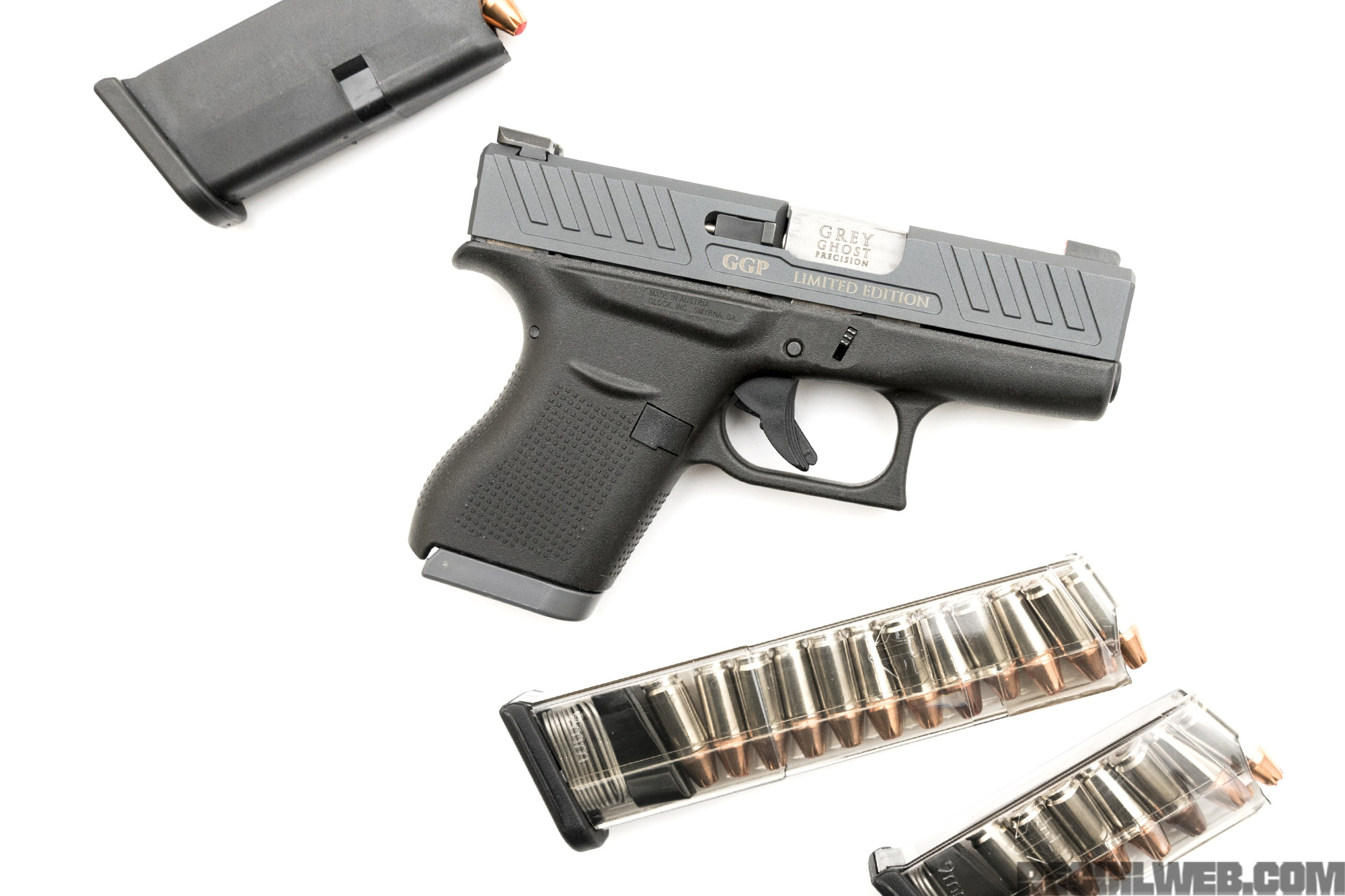 Little Ghoulish Glock: Glock 43 Slides from Grey Ghost Precision