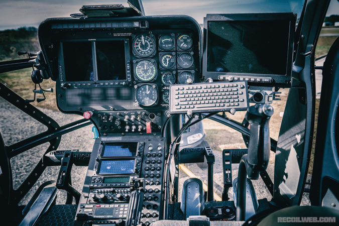 The cockpit of today's law enforcement air unit is as much a surveillance station as it is an aviation control deck.