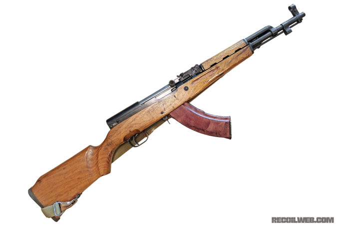 While the SKS-M looks baller with a bakelite, we can't ignore the beauty with the bayonet.