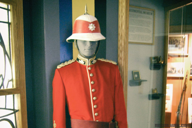 "It isn't just the British Army that dons ""red coats."" This is a full dress uniform of the Royal Canadian Regiment as it looks today."