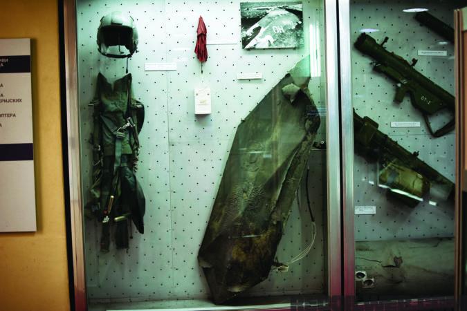 F117 detritus from Lt. Col. Zelko's aircraft.
