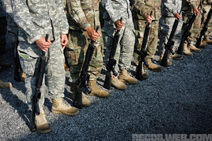 Drill and Ceremonies practice helps instill unit cohesion, weapons handling, and decisiveness of movement.