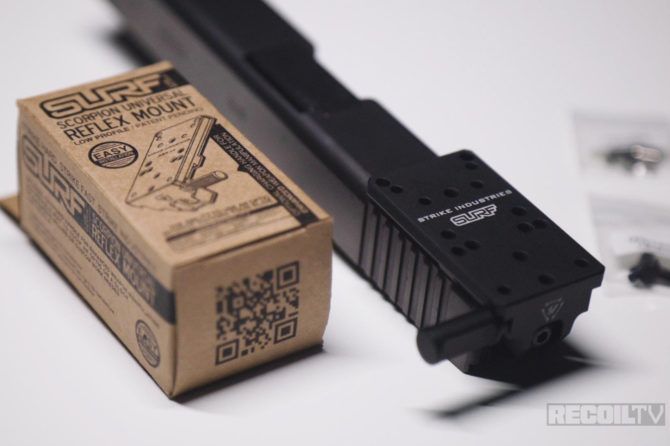 RECOILtv Mail Call: Strike Industries – Scorpion Universal Reflex Mount for Glock (G-SURF)