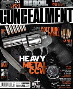 Enjoy your FREE issue of RECOIL CONCEALMENT magazine!