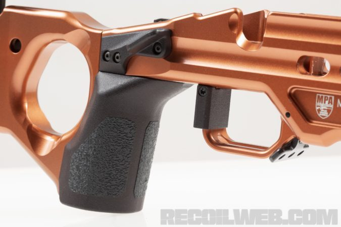 rifle chassis thumb rest
