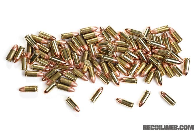 bullet pile 9mm