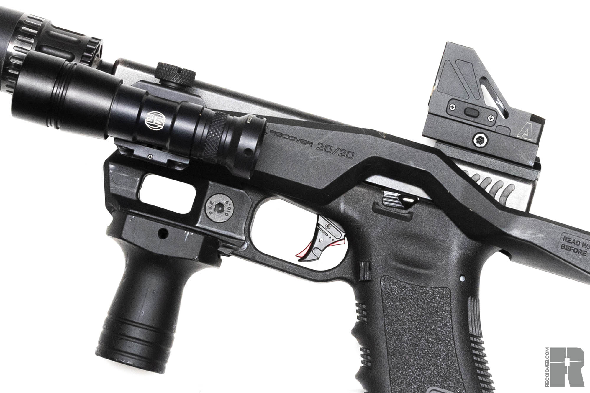 recover tactical 20/20 glock close up