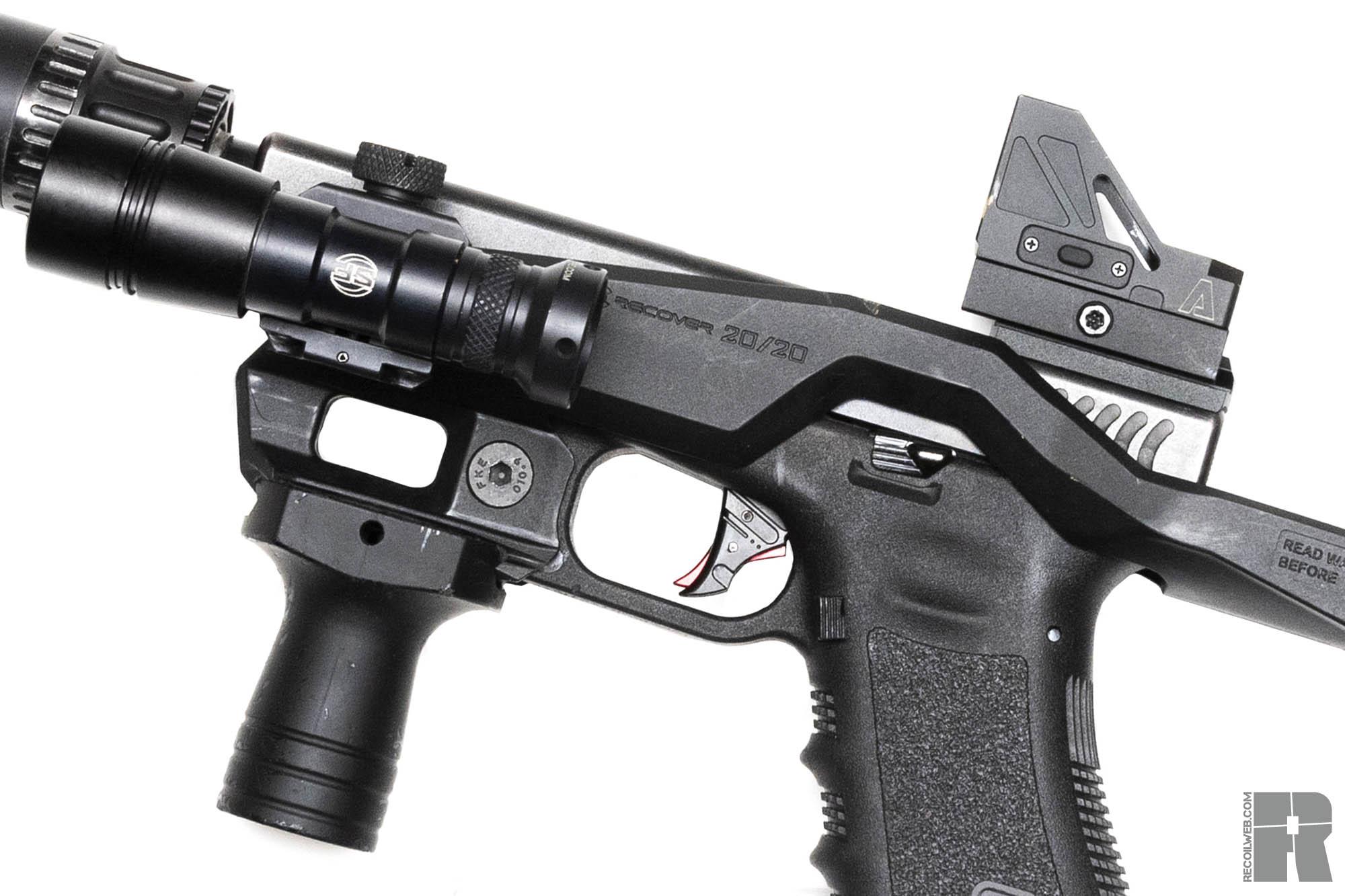 recover tactical 20/20 glock close up