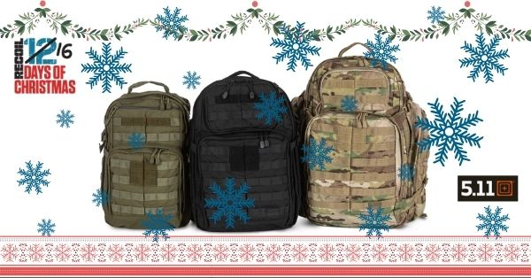 12 Days of Christmas 2020: Day 3 – 5.11 Rush Backpack Set Giveaway