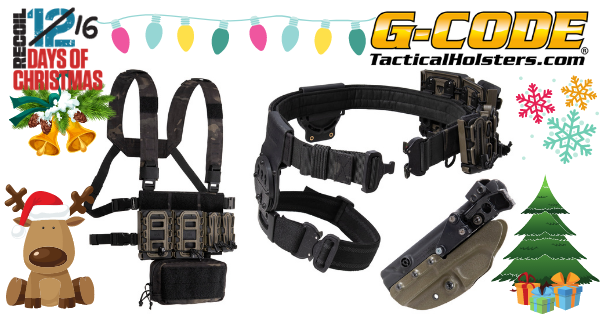 12 Days of Christmas 2020: Day 7 – G Code Belt System, Chest Rig, and Holster Giveaway