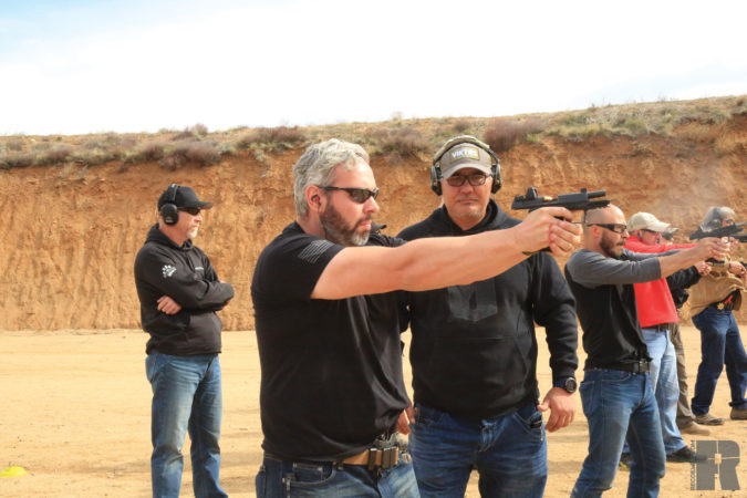 walther q4 at the range