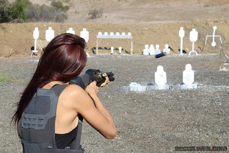 Tetiana Gaidar on the range